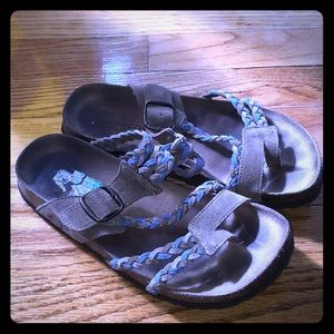 White mountain leather sandals size 7 EUC